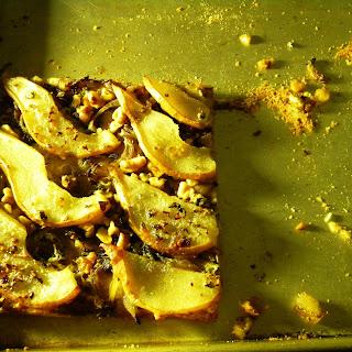 Carmelized Onion, Pear, Walnut, and Sage Flat Bread