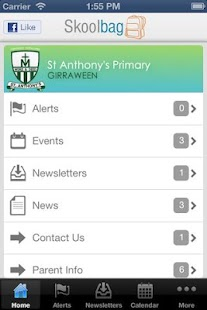 St Anthony's Primary Skoolbag - screenshot thumbnail