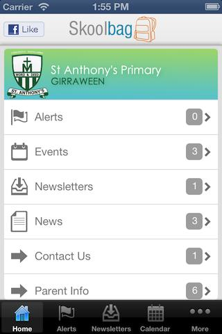 St Anthony's Primary Skoolbag - screenshot