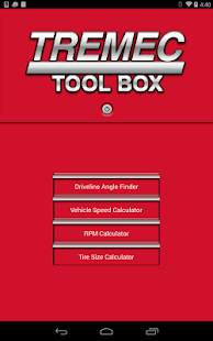 TREMEC Toolbox- screenshot thumbnail