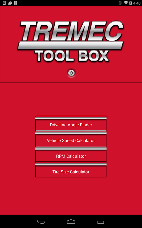 TREMEC Toolbox- screenshot