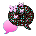 GO SMS THEME/ButterflyBubbles1 icon