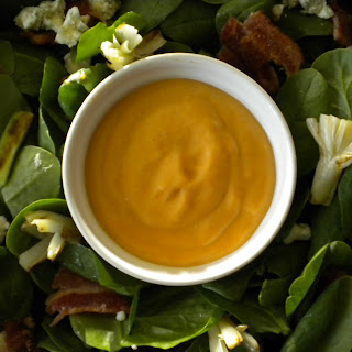 Grilled Scallion and Spinach Salad with a Scallion Dressing