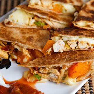 Chipotle Chicken, Apricot and Brie Quesadillas Recipe