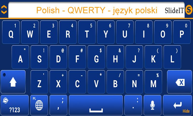 SlideIT Polish QWERTY Pack- screenshot