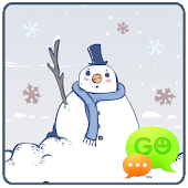 GO SMS Winter Snow Theme