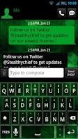 Screenshot of GO SMS THEME - Evil Green