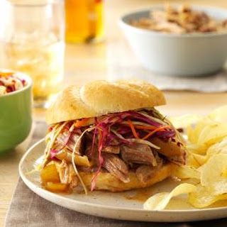 Sweet & Spicy Pulled Pork Sandwiches.