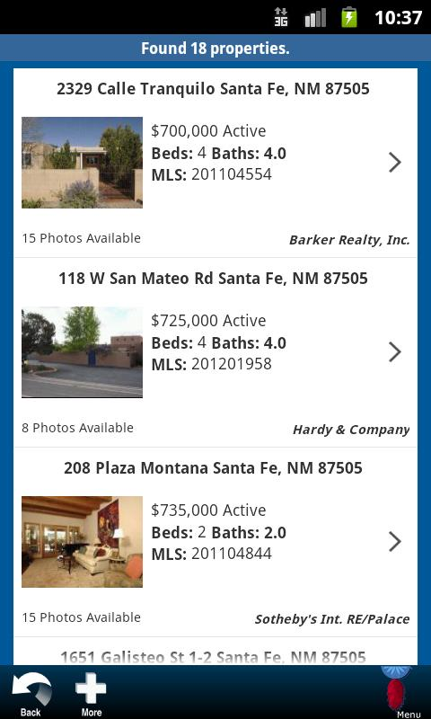 Santa Fe Properties - screenshot