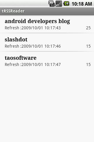 tRSSReader - screenshot