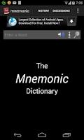 Screenshot of GRE - Mnemonic Dictionary