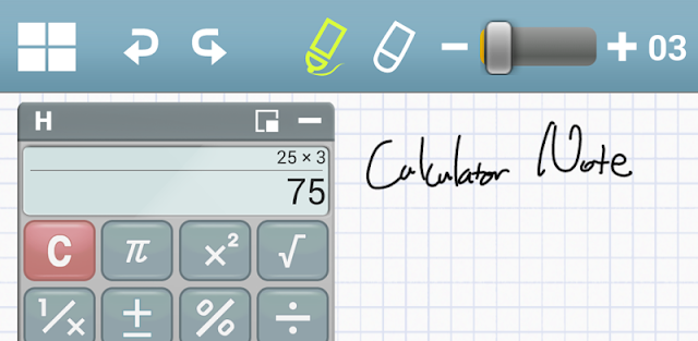 (100%off) Calculator Note (Quick Memo)