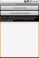 Screenshot of Wiimote Controller