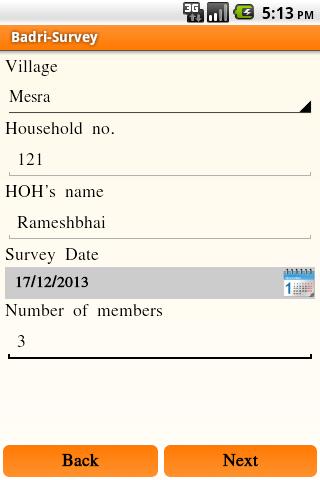 Paheli-Household Survey Sheet