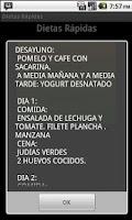 Screenshot of Dietas para Perdida de  Peso