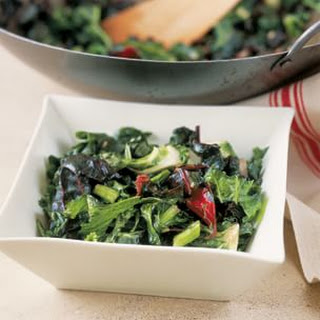 Stir-Fried Baby Greens with Ginger and Garlic
