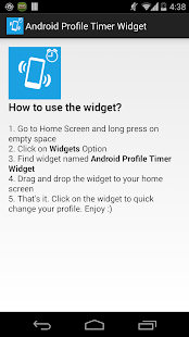 Profile Timer Widget 4 Android - screenshot thumbnail