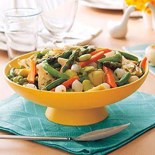 Spring Vegetables with Lemon and Tarragon.