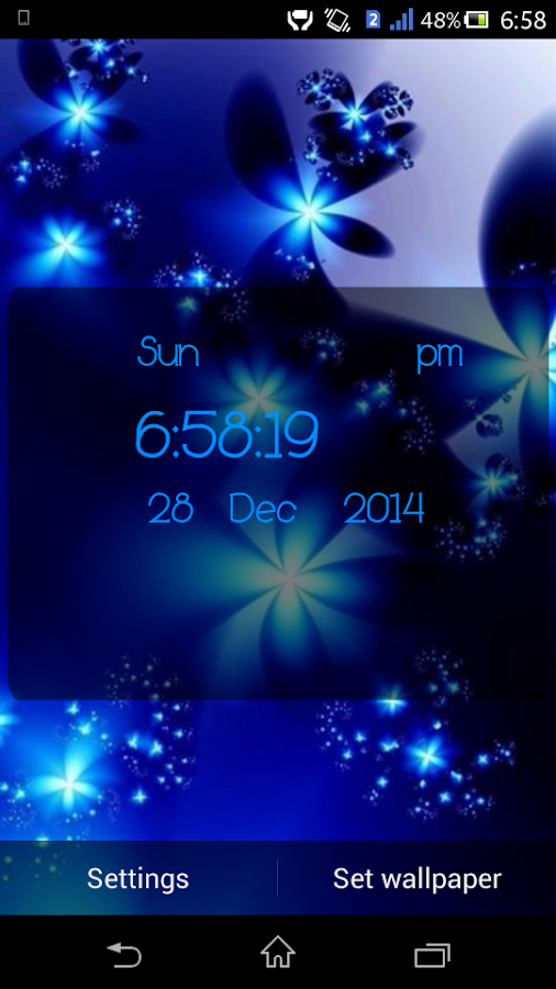 4d clock live wallpaper android apps on google play