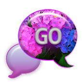 GO SMS - Hydrangea Love