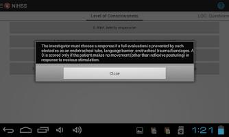 Screenshot of NIHSS
