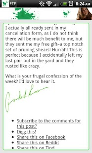 Frugal Confessions - screenshot thumbnail
