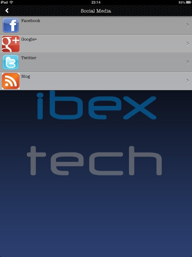 IBEX Tech: captura de pantalla