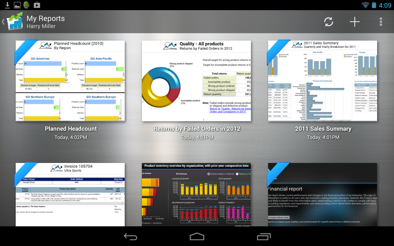 IBM Cognos Mobile- screenshot