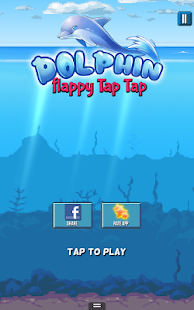 Dolphin game flippy tap fish android apps on google play for Tap tap fish game