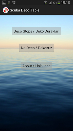 Scuba Deco Table App App