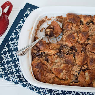Peanut Butter Chocolate Bread Pudding.