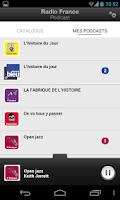 Screenshot of Radio France Podcast