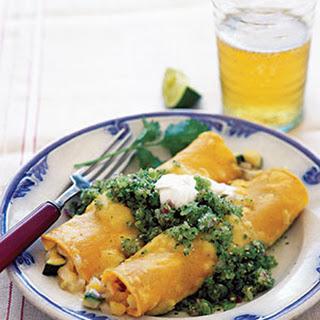 Chicken Enchiladas With Green Salsa.