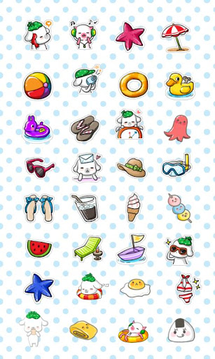CUKI Theme funny summer icon