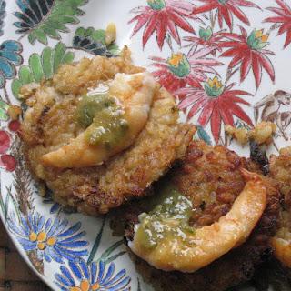 Thai Lemongrass Coconut Rice Cakes with Jade Shrimp.