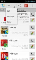 Screenshot of Call SMS Log Backup : Thoth