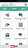 Screenshot of Citizens Mobile Banking