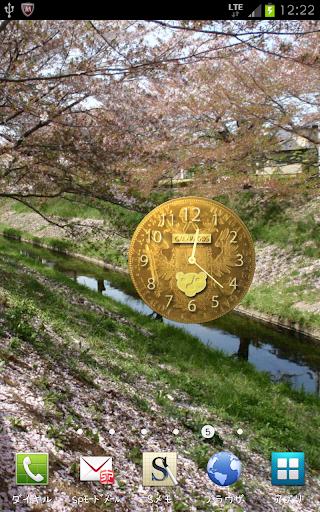 うそつき時計ウイジット(金貨コレクション)