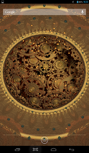 Golden Gears S Live Wallpaper
