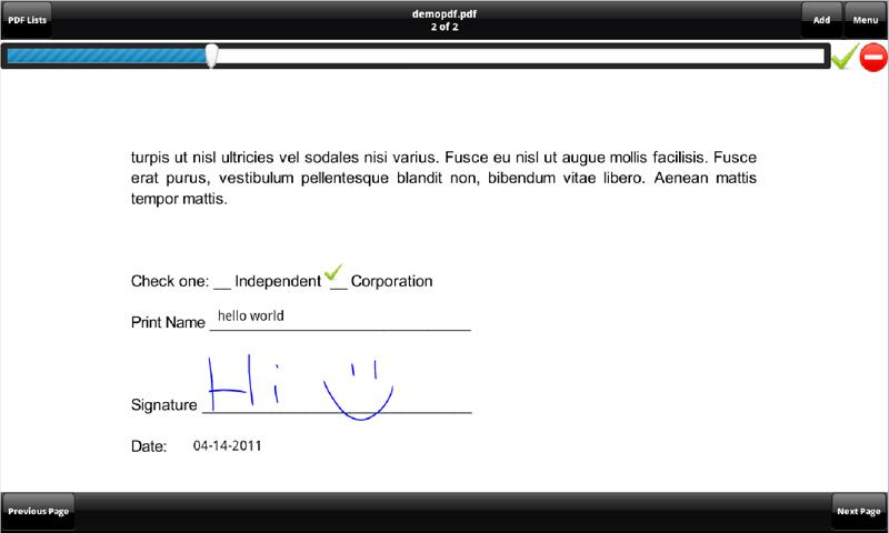 SignMyPad - screenshot