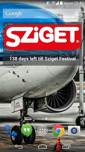 Days left till Sziget widget