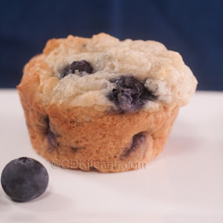 Low Sugar Blueberry Muffins.