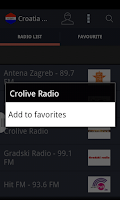 Screenshot of Croatia Radio