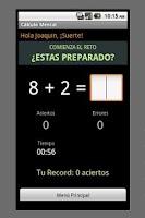 Screenshot of Mental Calculation