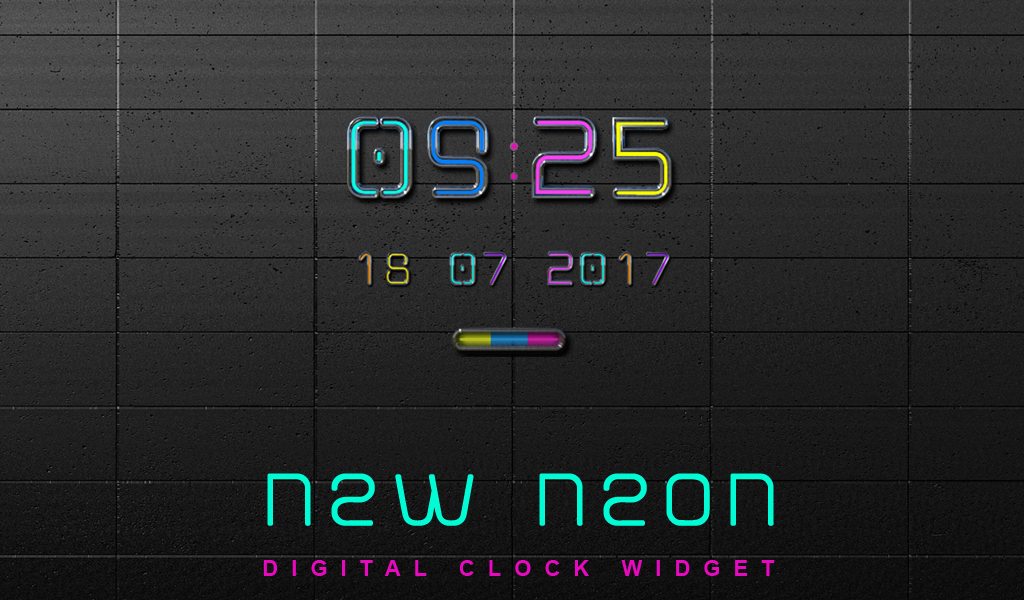 NEW NEON Digital Clock- screenshot