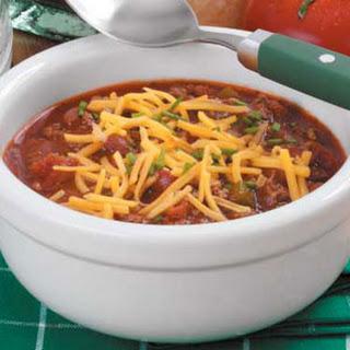 Zippy Slow-Cooked Chili.