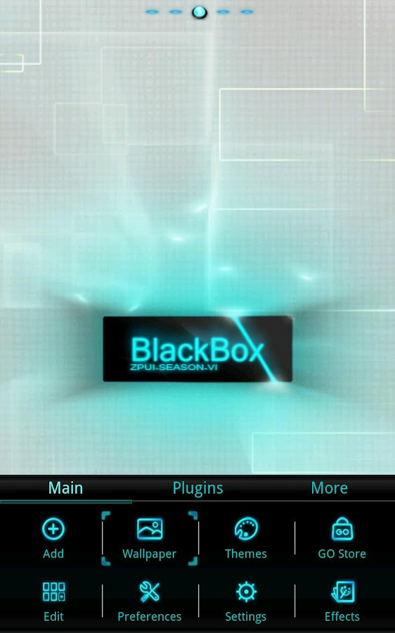 Blackbox GO LauncherEX Theme - screenshot