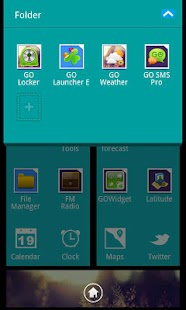 Blue Theme GO Launcher EX - screenshot thumbnail