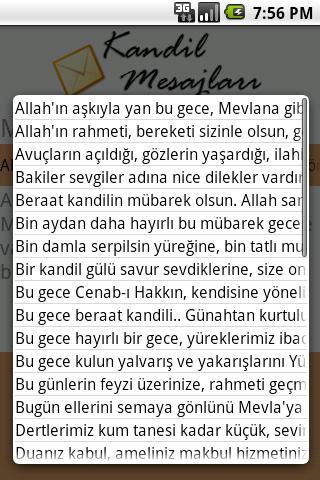 Kandil Mesajlari- screenshot
