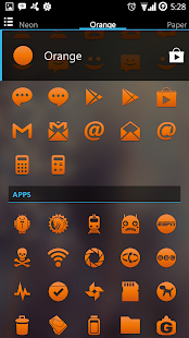 Orange Go Apex Nova Icon Theme - screenshot thumbnail